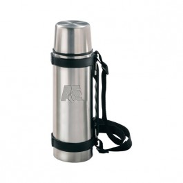 Stainless / Black 24 oz Engraved Stainless Steel Travel Thermos