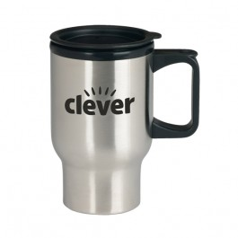 Stainless / Black 14 oz. Stainless Steel Trip Travel Mug