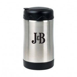 Stainless / Black 20 oz Engraved Stainless Steel Food Jar