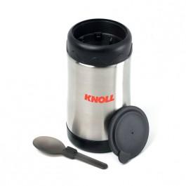 Stainless / Black 20 oz Stainless Steel Food Jar