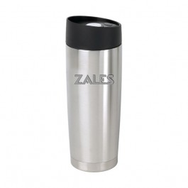 Stainless / Black 14 oz Engraved Button Lid Vacuum Desk Tumbler