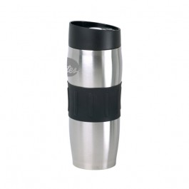 Stainless / Black 13 oz Engraved Roller Stainless Steel Vacuum Tumbler
