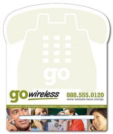 White 8.5 x 10.125 Laminated Phone Shape Memo Board