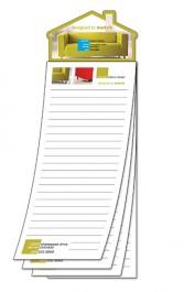 White 3.5 x 10.25 Custom Magna-Pad House Shape Magnet (25 Sheet)