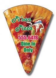 White 1.875 x 2.625 Pizza Slice Shape Magnet