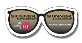 White 3.25 x 1.375 Eye Glasses Shape Magnet