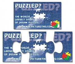 White 3.5 x 2 Puzzle Outdoor Magnet - 3-Piece