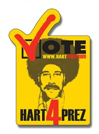 White 2.25 x 3.25 Vote Shape Outdoor Magnet