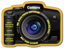 White 3.5625 x 2.7 Camera Shape Magnet