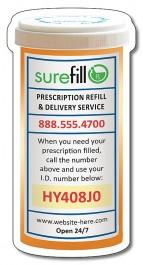 White 2.25 x 4.3125 Prescription Bottle Shape Magnet