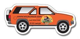 White 2.25 x 5.125 SUV Shape Magnet