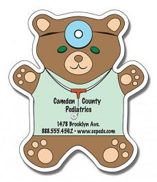 White 4 x 4.625 Teddy Bear Shape Magnet