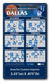 White 3.5 x 6 Round Corner Basketball Schedule Magnet