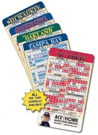 White 4 x 7 Round Corner Baseball Sport Schedule Magnet