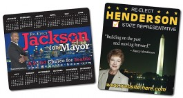 White 3.5 x 4 Round Corner Political Calendar Magnet - NEXT DAY RUSH