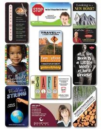 White 3.5 x 2 Round Corner Outdoor Business Card Magnet