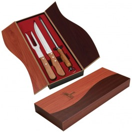 Walnut Ying Yang Box Carving Knife Set