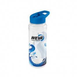 White / Blue 25 oz. Clear Wave Water Bottle