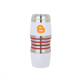 White / Red 16 oz. Color Ring Tumbler