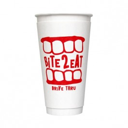 White 20 oz Comfort Cup
