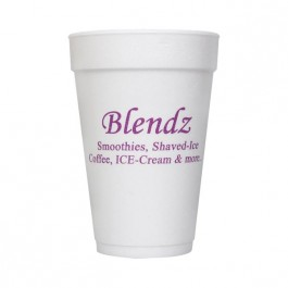 White 16 oz Foam Cup