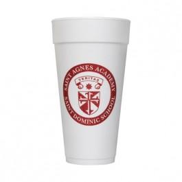 White 24 oz Foam Cup