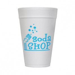 White 32 oz Foam Cup
