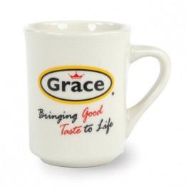 White 8 1/2 oz Vitrified Diner Ceramic Coffee Mug