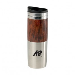 Wood / Silver 13 oz Contrast Wood Tumbler