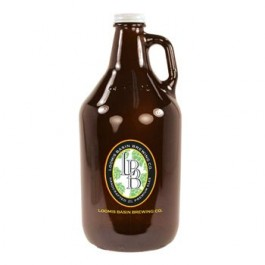 Amber 64 oz Amber Glass Beer Growler