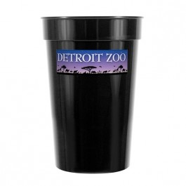 Black 17 oz Smooth Stadium Cup (Full Color)