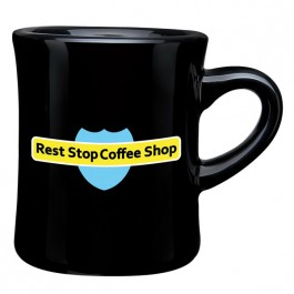Black 9 oz. CuppaJo Diner Coffee Mug