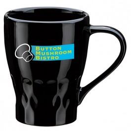 Black 11 oz. Ceramic Fresco Coffee Mug