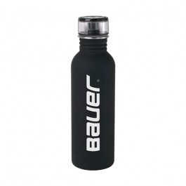 Black 25 oz Rubberized Stainless Steel Water Bottle