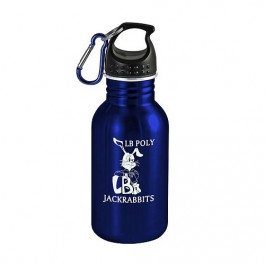 Blue / Black 17 oz Wide-Mouth Stainless Steel Sports Bottle