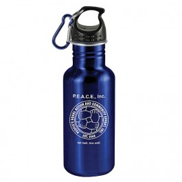Blue / Black 20 oz Wide-Mouth Stainless Steel Sports Bottle