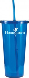 Blue 24 oz. Single-Wall Tumbler
