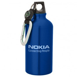 Blue 500ml Aluminum Compass Sports Bottle