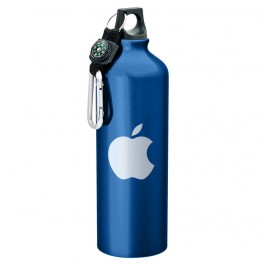 Blue 1L Aluminum Compass Sports Bottle