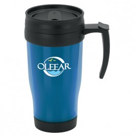 Blue 13 oz. Translucent Travel Mug