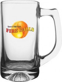 Clear 13 oz Basketball Glass Sport Mug - Full Color