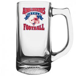 Clear 13 oz Football Glass Sport Mug - Full Color