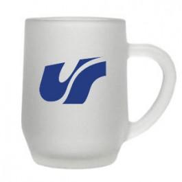 Clear 10oz Frosted Haworth Glass Coffee Mug
