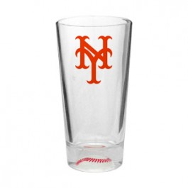 Clear 16oz Colored Baseball Sport Pint Glass