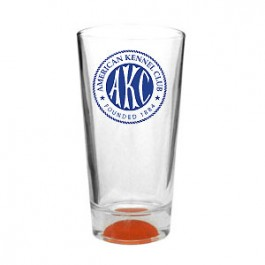 Clear 16oz Colored Basketball Sport Pint Glass