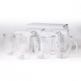 Clear 13 oz Binara 4 Piece Mug Gift Set
