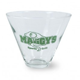 Clear 13 1/2 oz Stemless Martini Glass