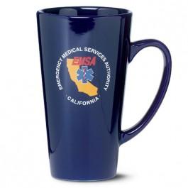 Cobalt Blue 16 oz Firehouse Glossy Ceramic Coffee Mug