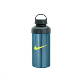 Light Blue / Black 20 oz. Aluminum Screw Cap Water Bottle