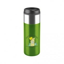 Lime Green 16 oz Chrome Top Slim Travel Tumbler